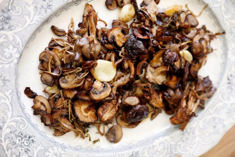 Roasted Mushrooms with Thyme and Smoked Salt