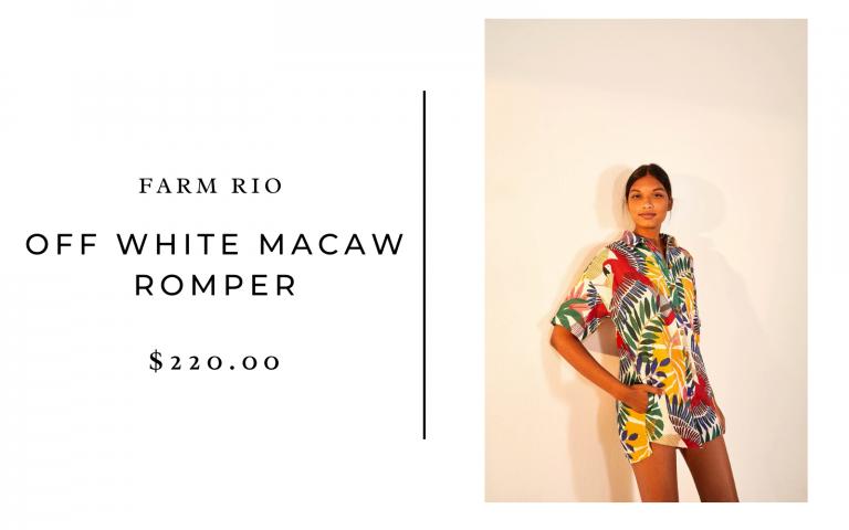 Off White Macaw Romper