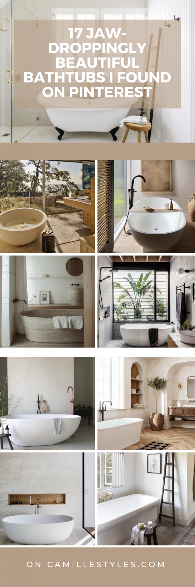 The 17 Most Beautiful Bathtubs on Pinterest Channel Spa Vibes at Home