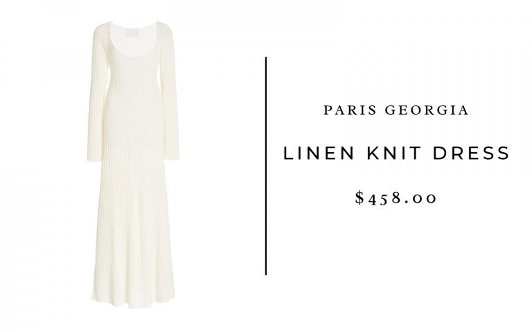 Paris Georgia Linen Knit Dress