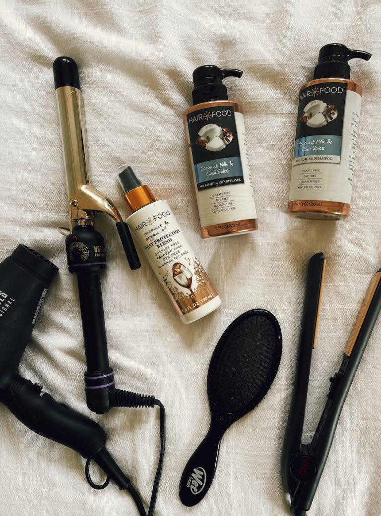 hair products I use - how to get beachy waves