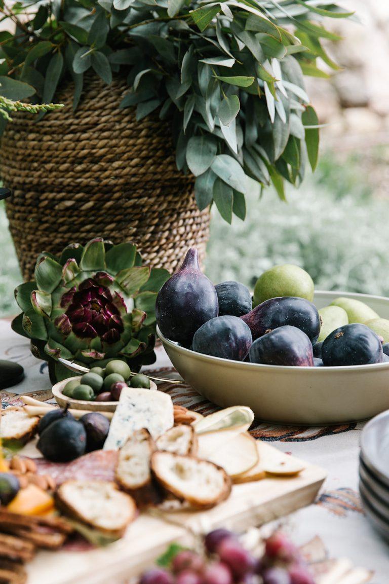 Fall appetizer buffet, figs- backyard game night with target