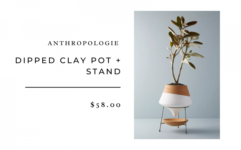 anthropologie dipped clay planter