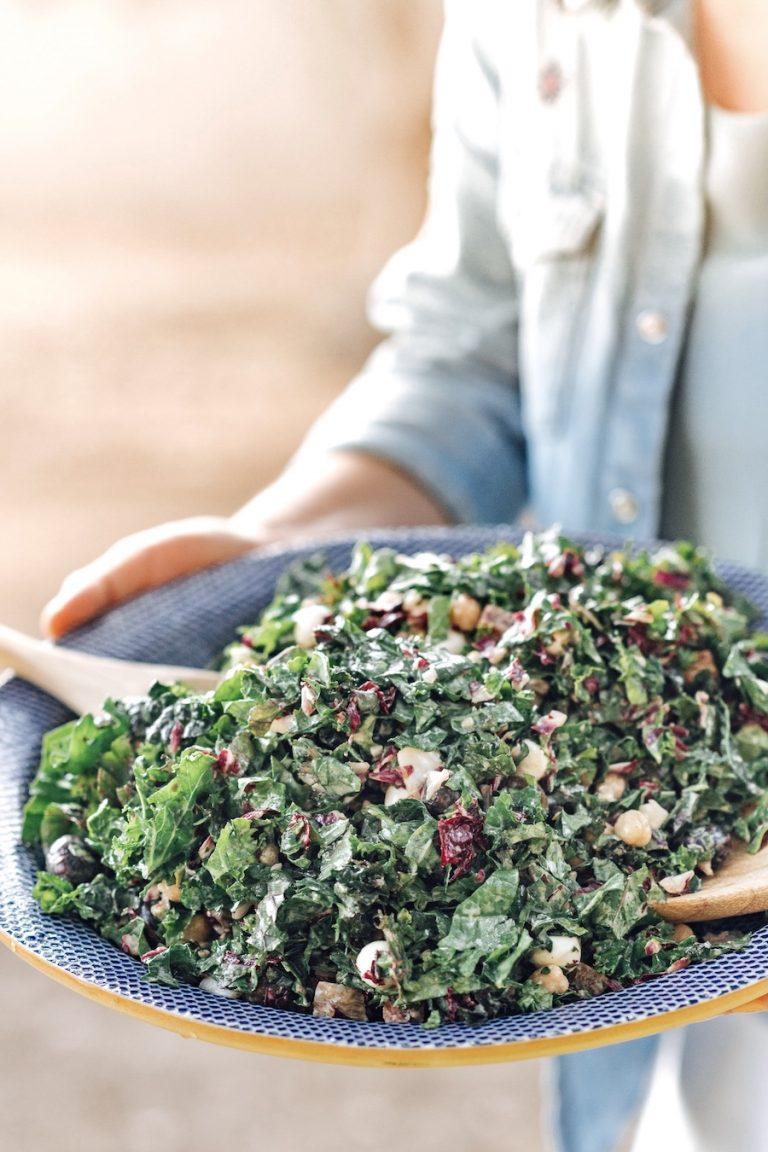 Kale Italian Chopped Salad at Plumcot Farm Dinner Party