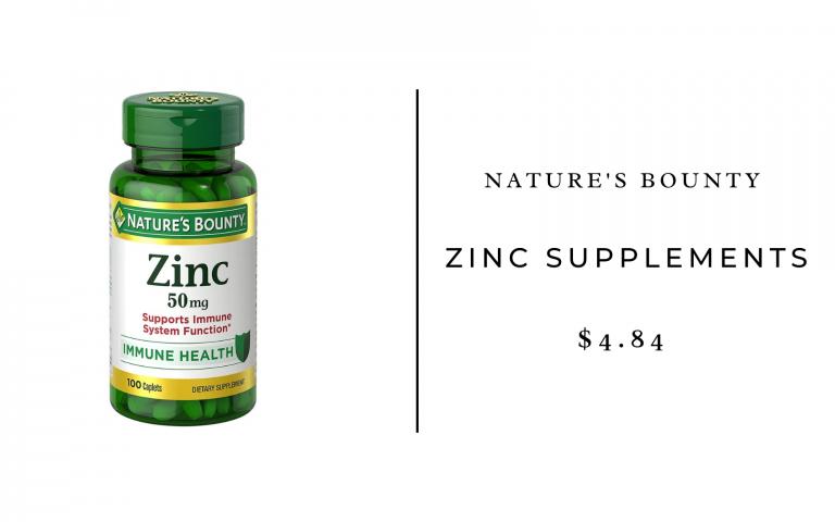 nature's bounty zinc supplements