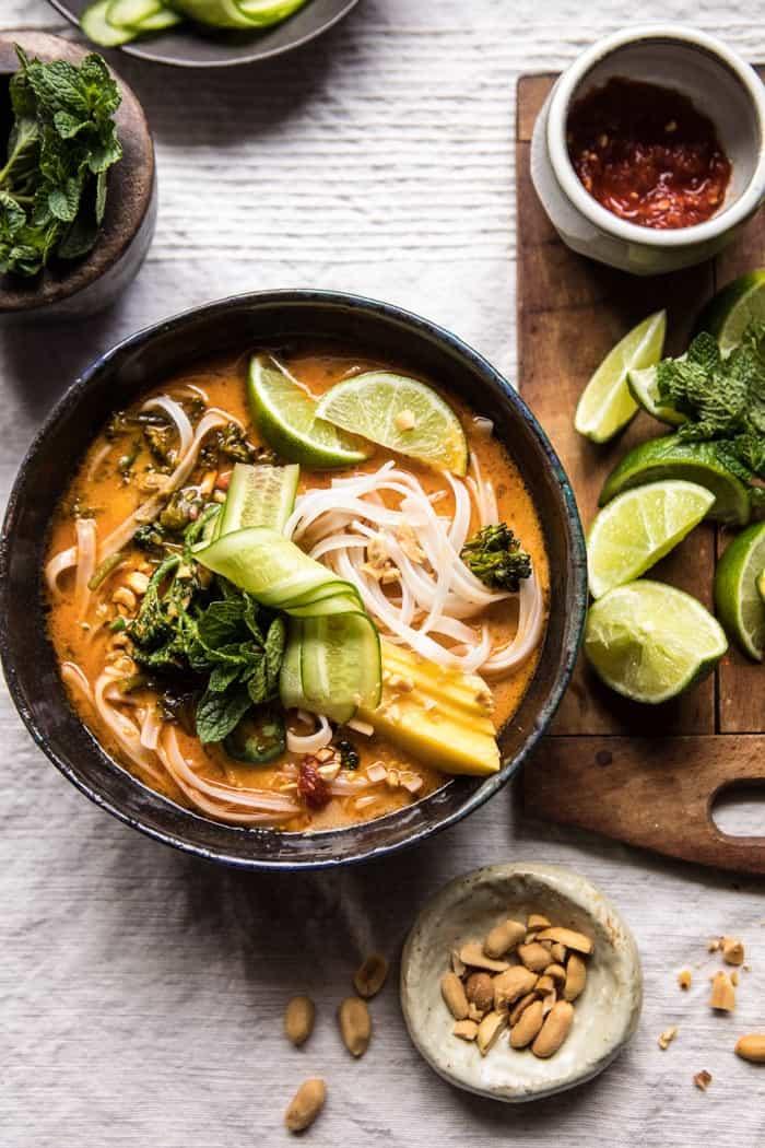 peanut noodle soup from half baked harvest