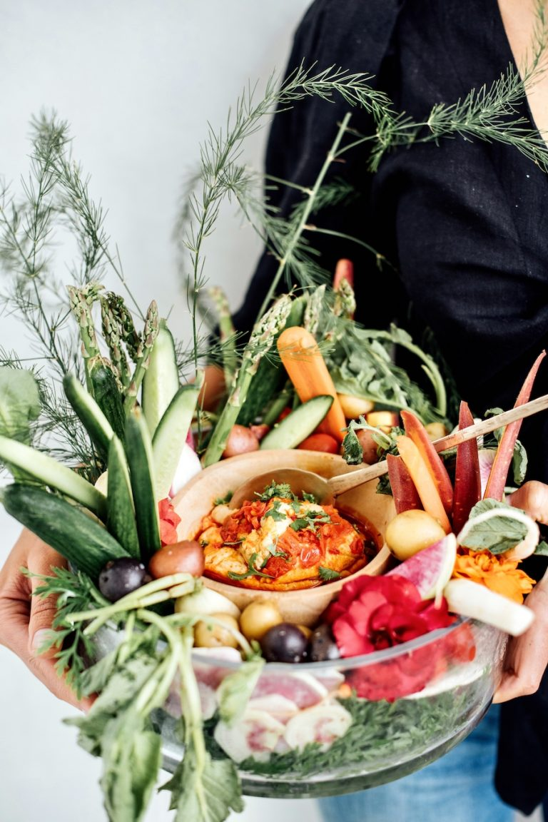 vegetable crudité with fresh summer produce, malibu farm dinner party