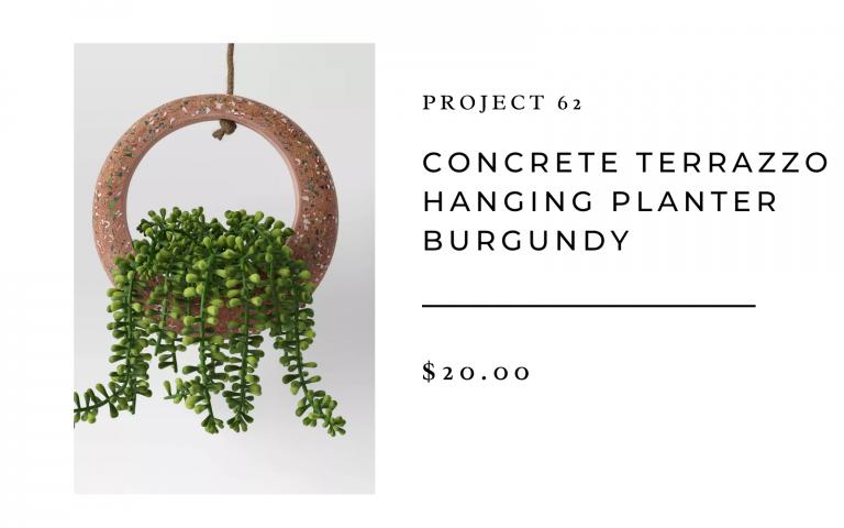target project 62 concrete terrazzo hanging planter