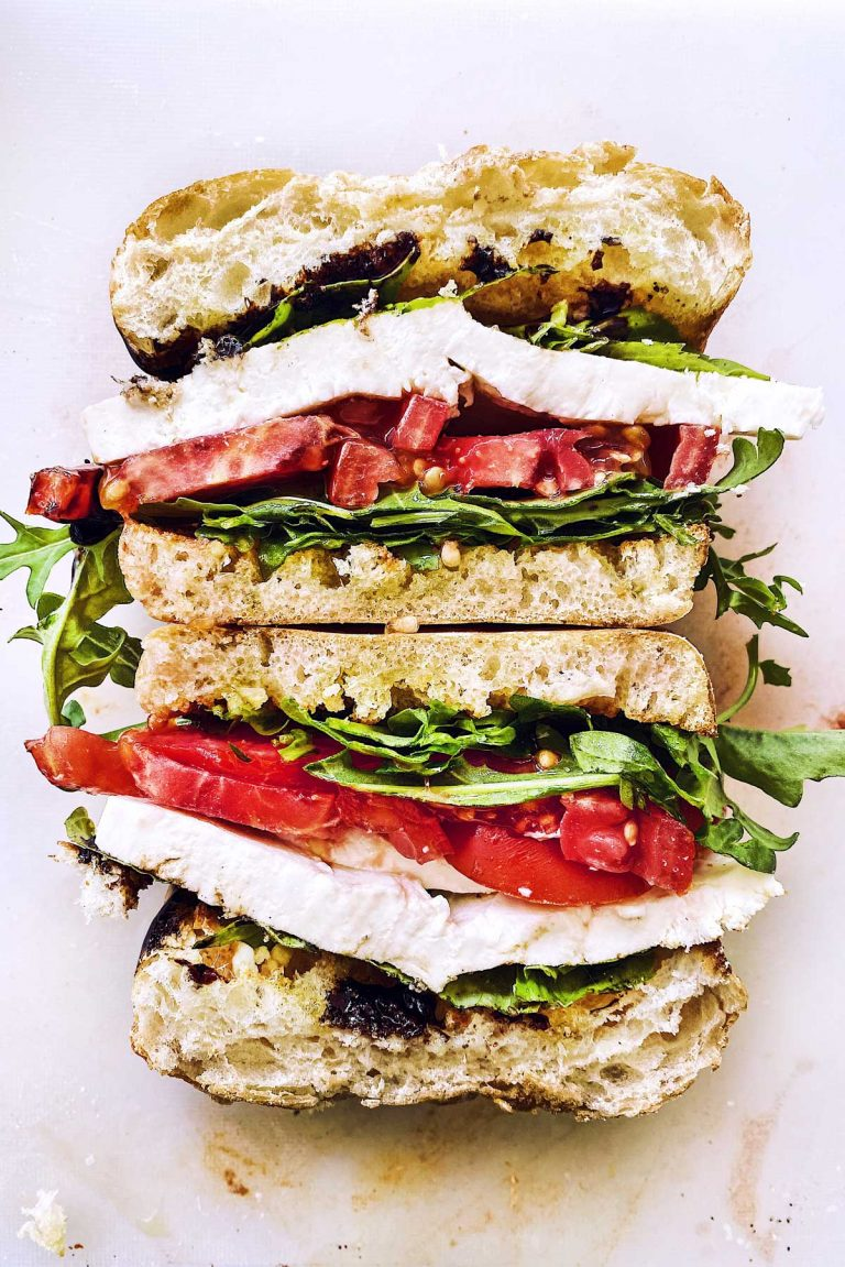 caprese sandwich - foodie crush