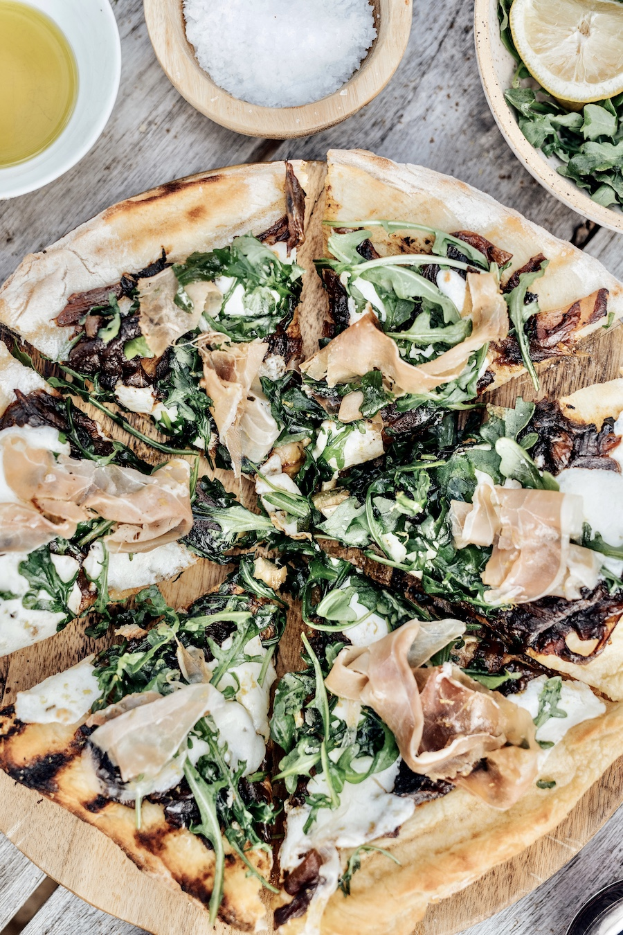 Caramelized Onion and Ham Pizza-How to Grill a Pizza