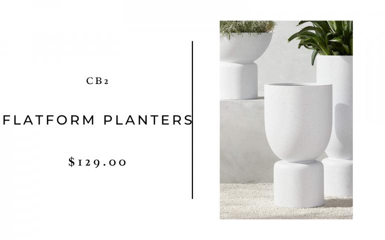 cb2 flatform planters