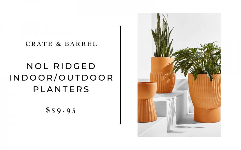 crate and barrel nol ridge planters