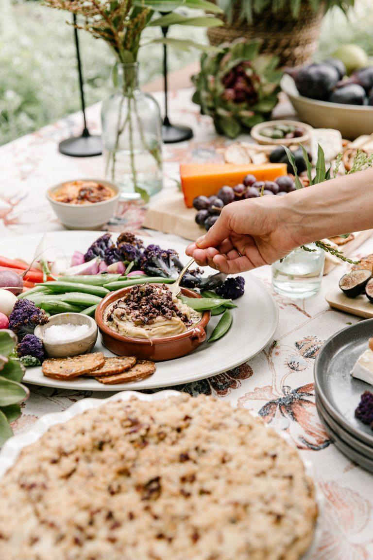 Fall appetizer buffet, cheese board- backyard game night with target