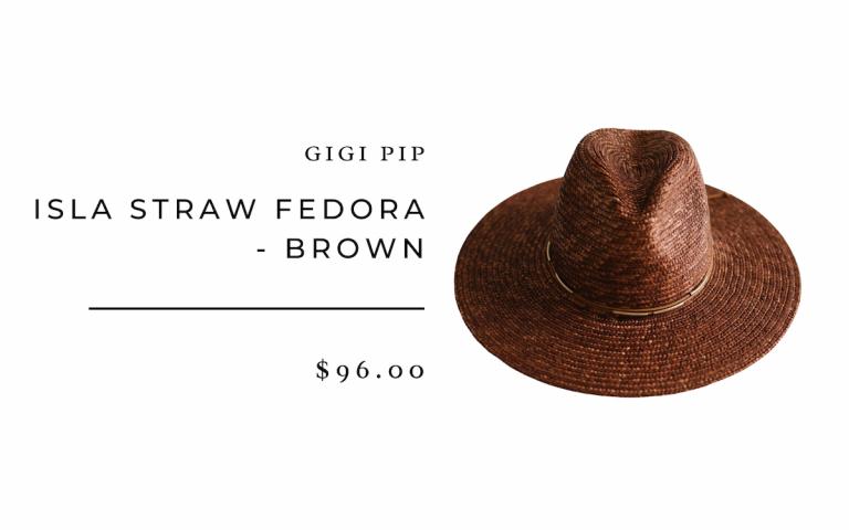 Gigi Pip ISLA STRAW FEDORA - BROWN