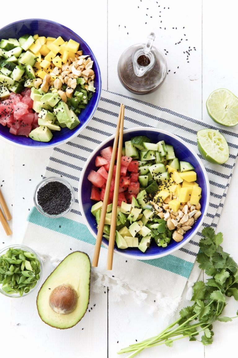 poke bowls -- camille styles