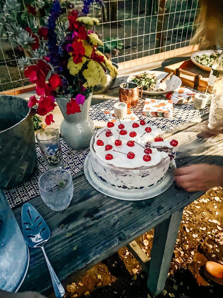 Spumoni Ice Cream Cake - Dinner Party at Plumcot Farm