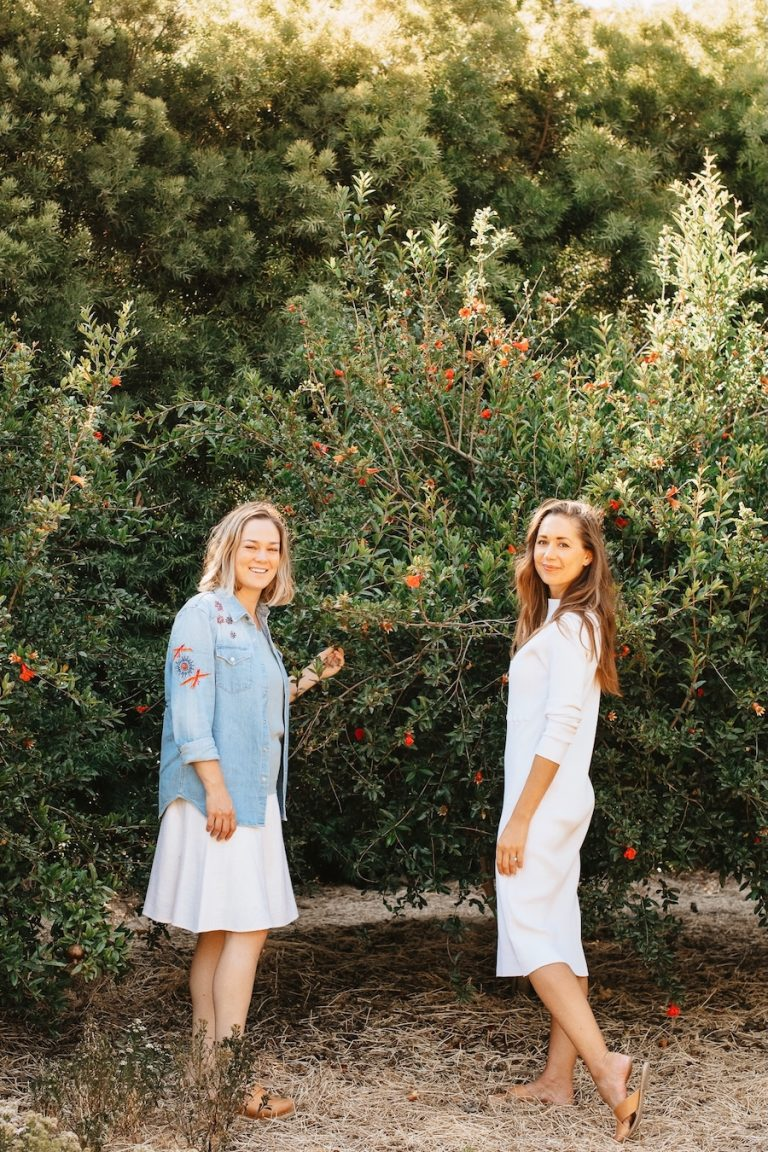 Alison Hersel and Camille Styles, friends, farmer at Plumcot Farm, Malibu