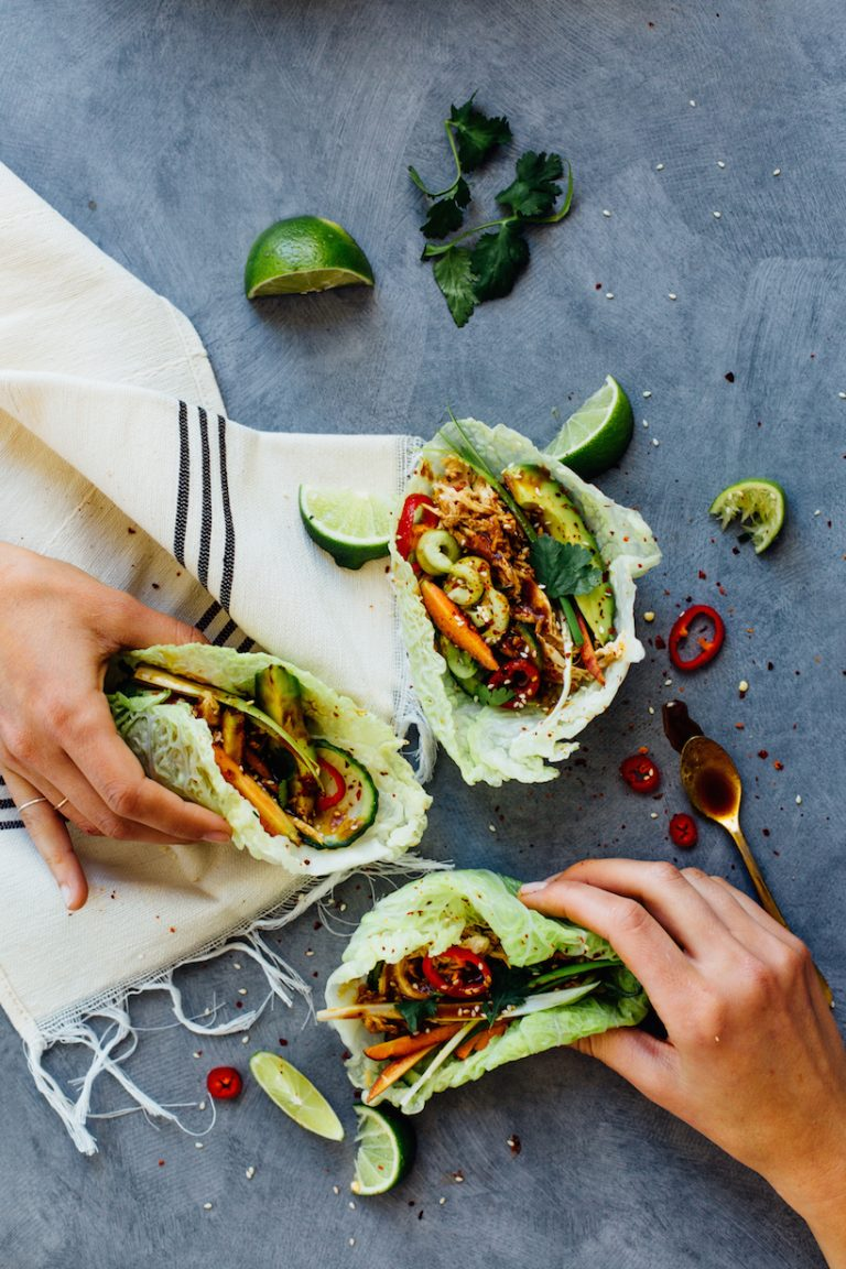 hoisin chicken cabbage tacos from camille styles