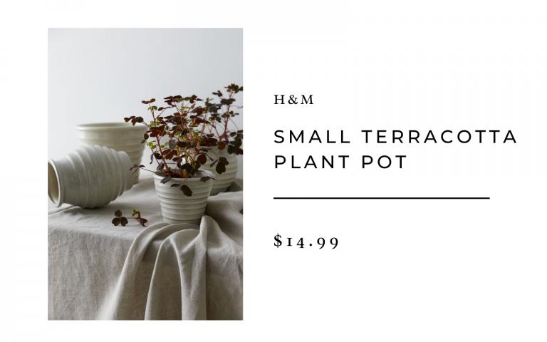 h&m terracotta plant pot