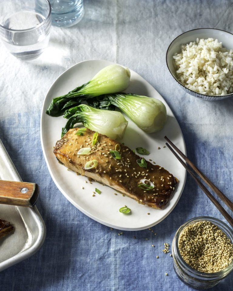 This miso-glazed salmon has healing and anti-inflammatory ingredients
