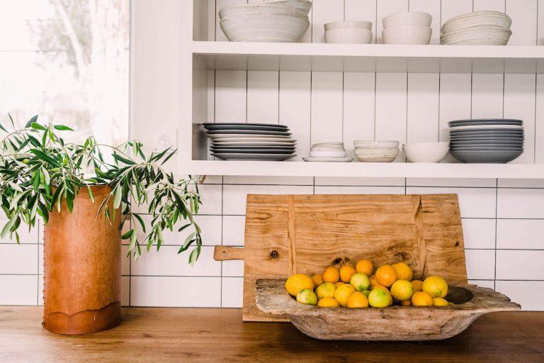 Modern Farmhouse Kitchen - Home of Helene Henderson - Malibu Farm - fresh produce and summer veggies - meal prep -citrus