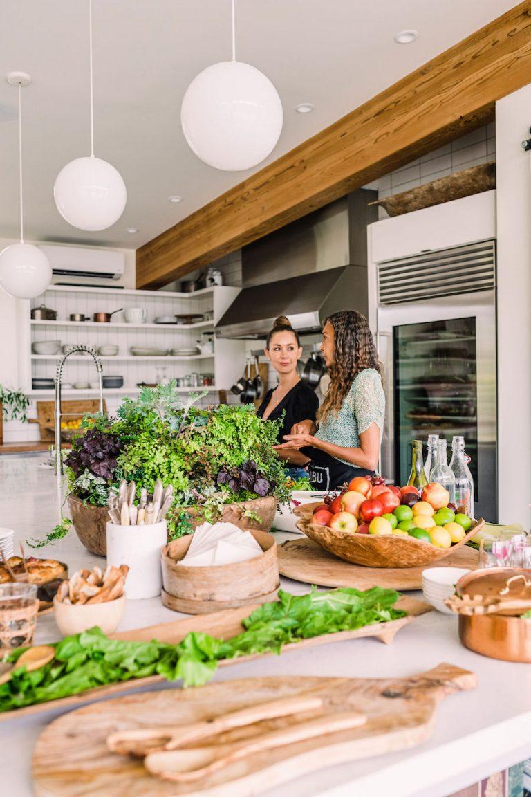 Modern Farmhouse Kitchen - Home of Helene Henderson - Malibu Farm - fresh produce and summer veggies - meal prep