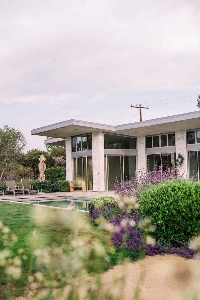 lavender rosemary garden - helene henderson home designed by architect doug burdge - malibu farm