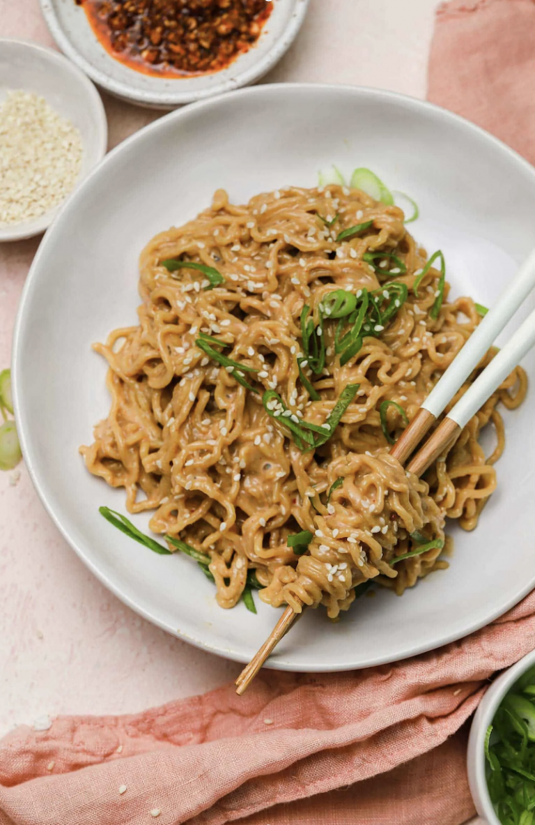 spicy peanut sesame noodles from table for two