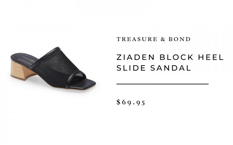 Ziaden Block Heel Slide Sandal