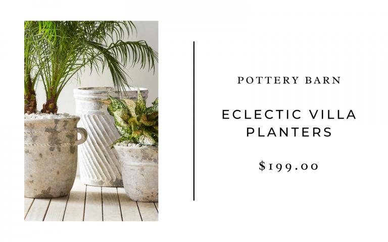 pottery barn eclectic villa planters
