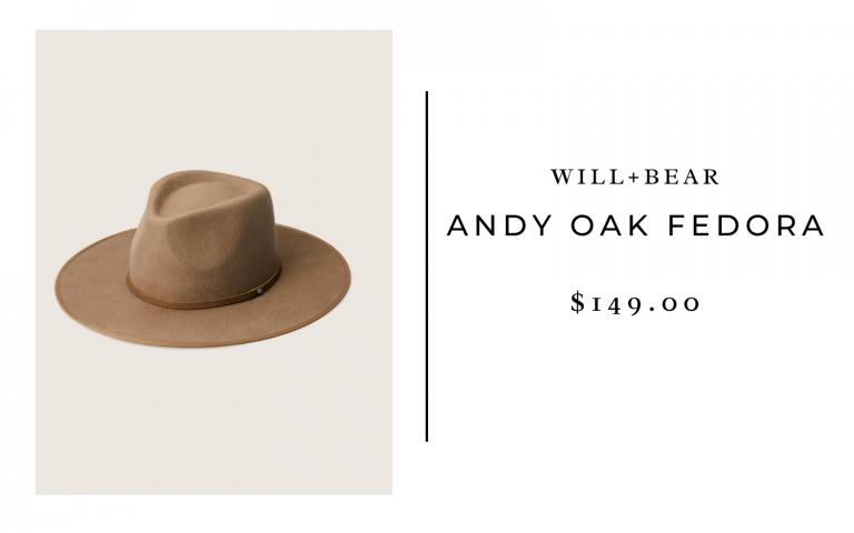 Will+Bear Andy Oak Fedora