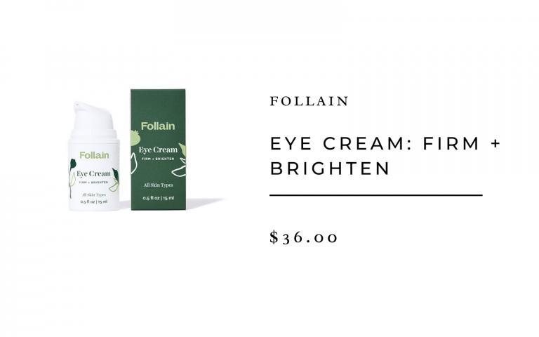 Follain eye cream