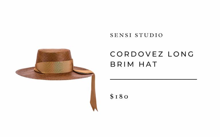 SENSI STUDIO Cordovez Long Brim Hat