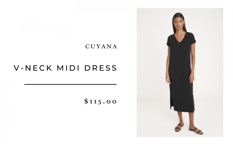 Cuyana V-Neck Midi Dress