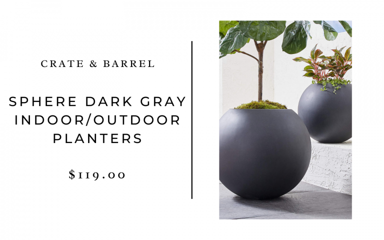 crate and barrel sphere planters