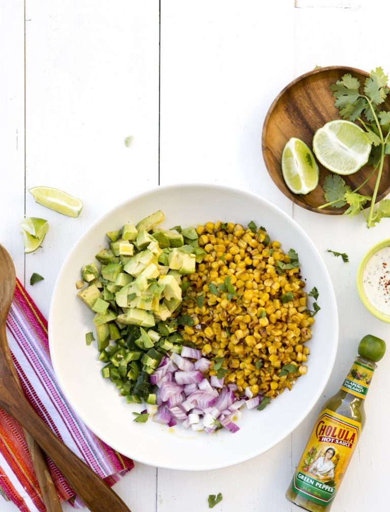 mexican street corn salad -- camille styles