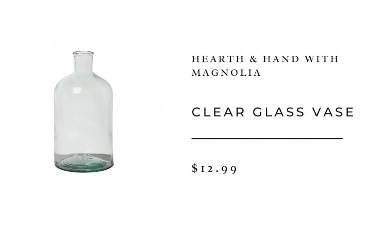 florero de vidrio transparente