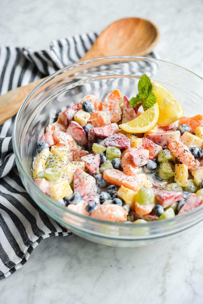 yogurt fruit salad from fed and fit
