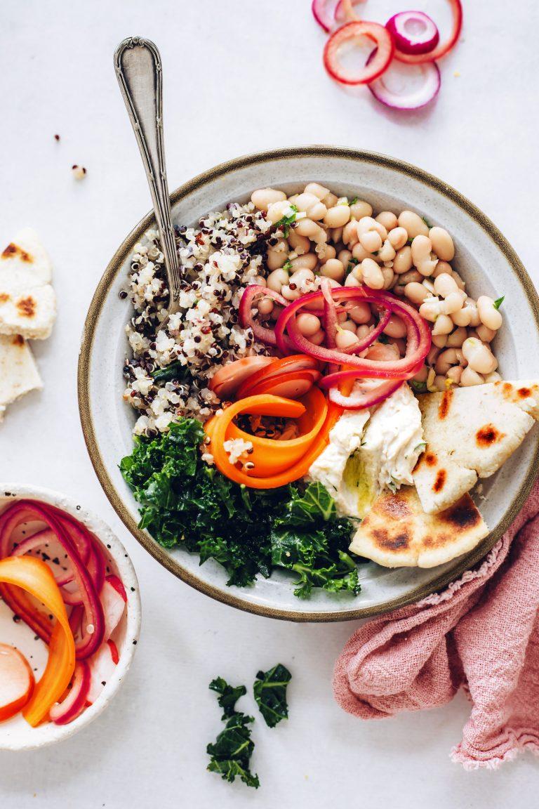 Buddha bowl with quinoa from minimalist baker