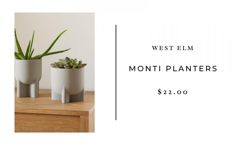 west elm monti planters