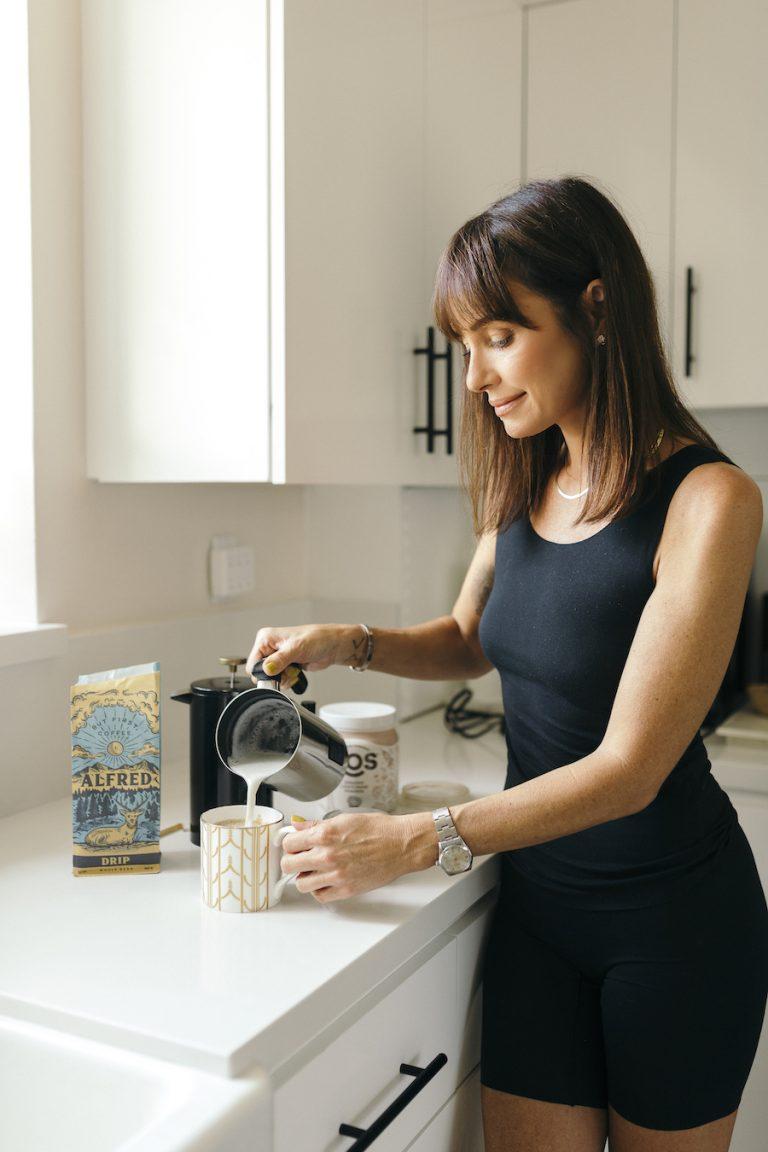 catt sadler's morning routine, coffee, morning, kitchen