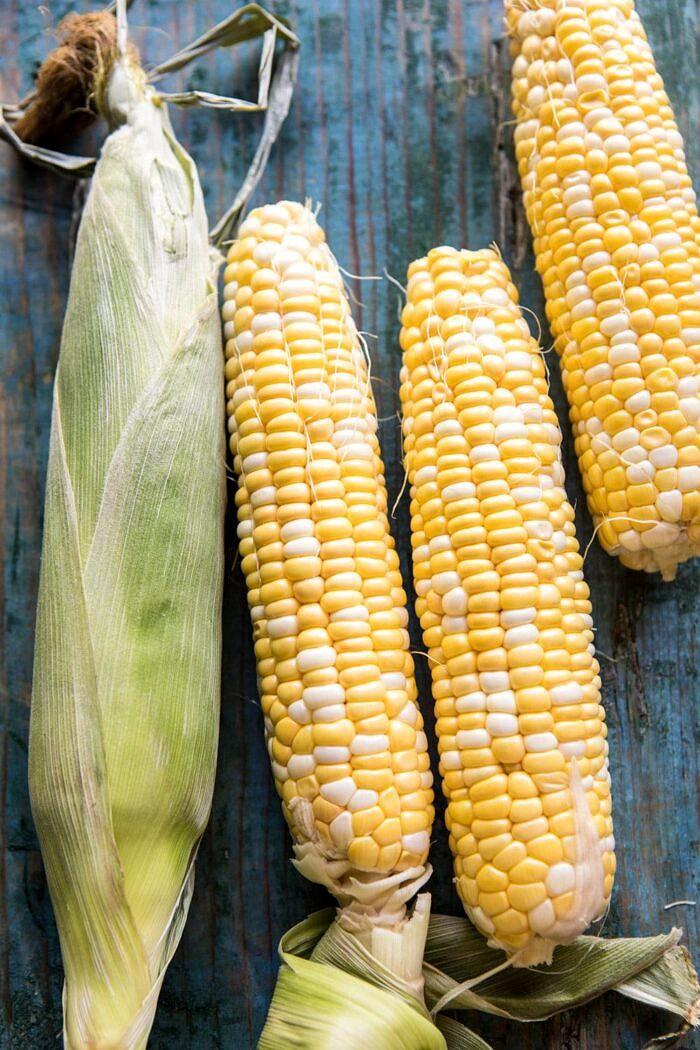 Half Roasted Garlic Butter Creamy Corn Chicken