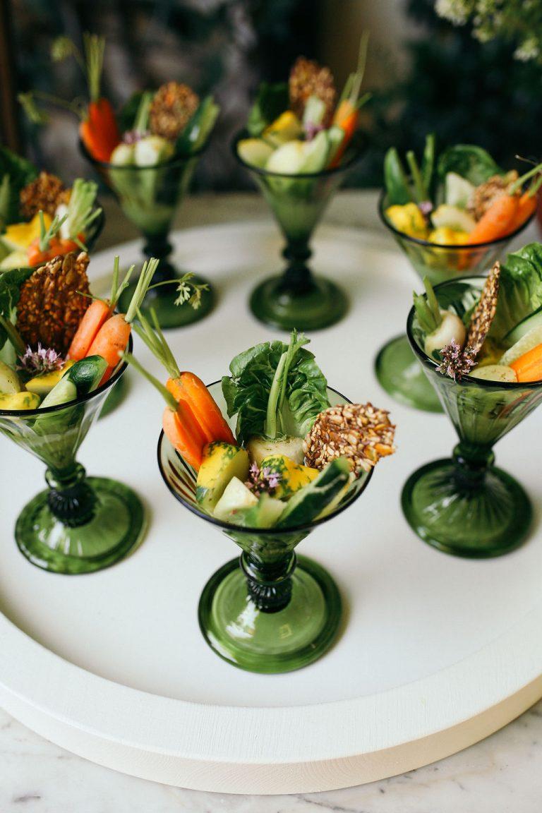 Valerie Rice dinner party, appetizer, crudité, veggies