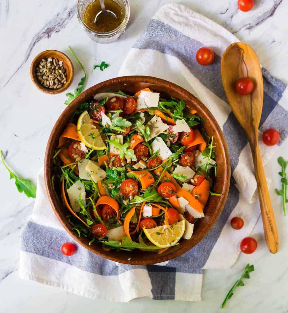 Easy-Arugula-Salad-with-Parmesan