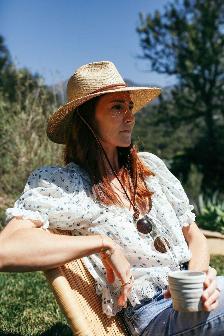 samantha wennerstrom, could i have that, california, reading, relaxing, meditating, morning, santa barbara, hat