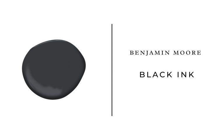benjamin moore black ink
