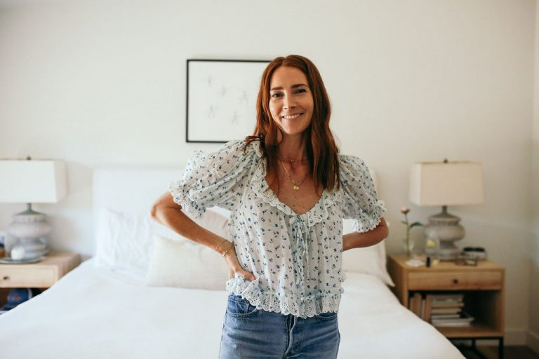 samantha wennerstrom, could i have that, bedroom, floral top