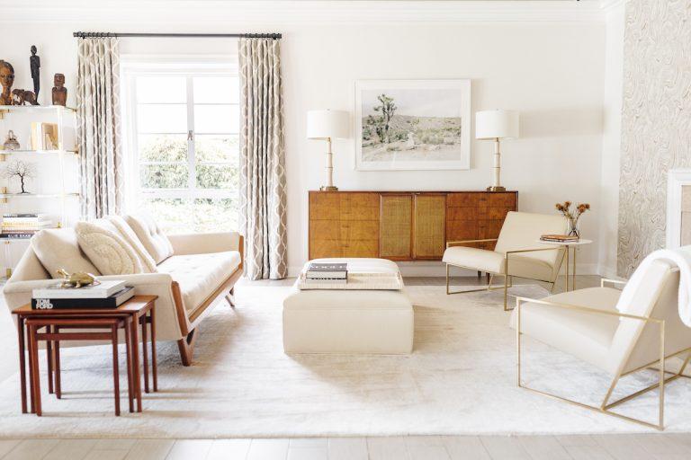 catt sadler's living room, white, monochromatic