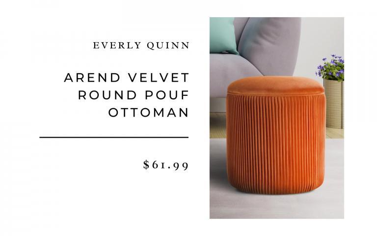 arend velvet ottoman pouf
