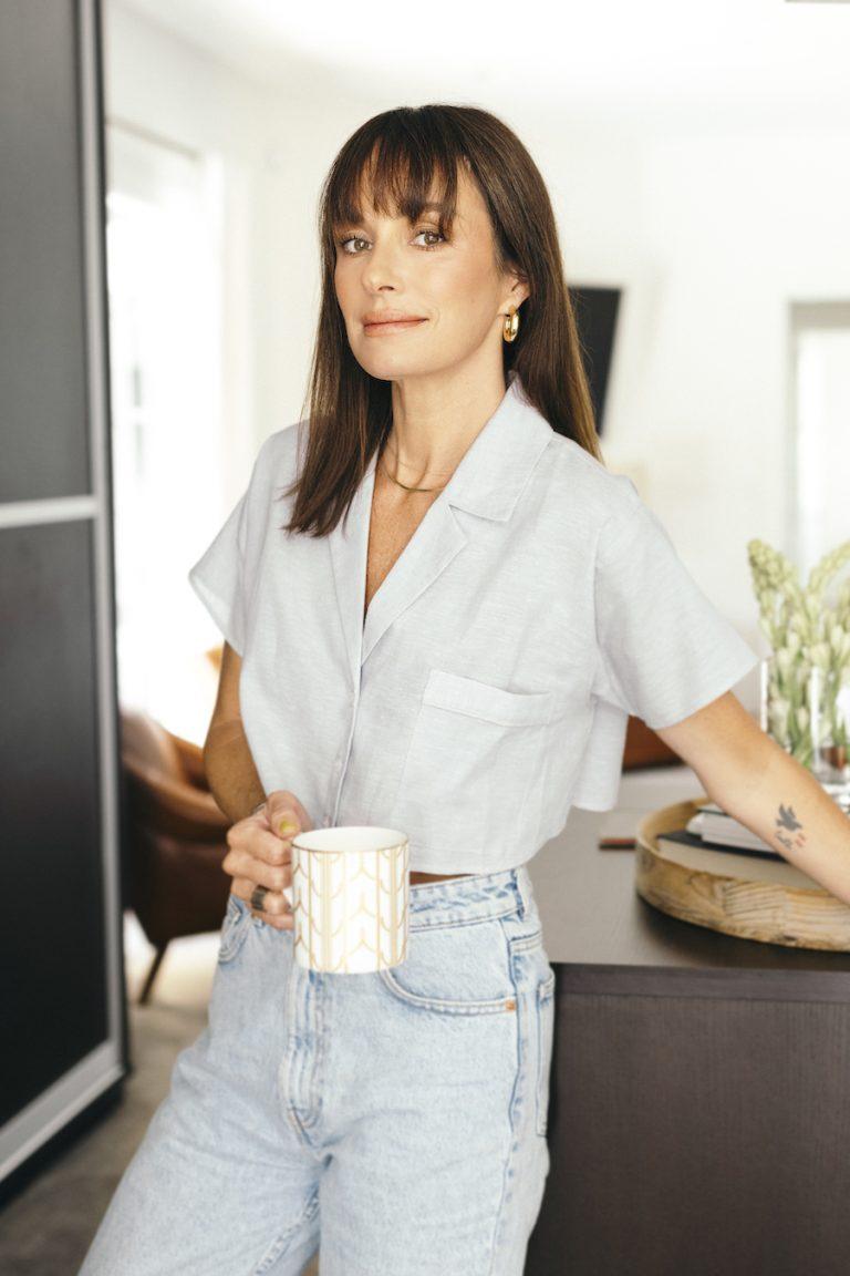 catt sadler's morning routine, coffee, closet, getting ready